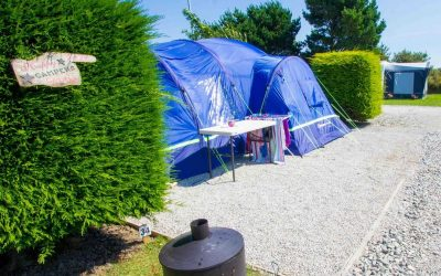 Can i pitch a tent on a gravel pitch?